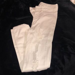 American eagle ripped jeggings (jeans)
